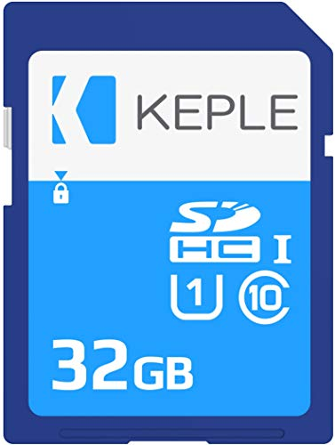 Keple 32GB SD Speicherkarte High Speed SD Speicher Karte Kompatibel mit Canon EOS 70D, 6D, 100D, 600D, 1100D, 1200D, 60D, 550D, EOS 700D DSLR Digital Camera | 32 GB UHS-1 U1 SDHC Card