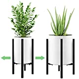 Modern Plant Holder, Adjustable Width 9 to 15 inches, BABIRO Mid...