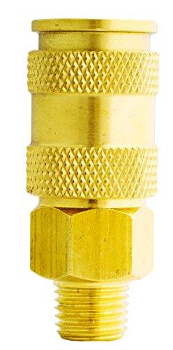 Milton Industries S-767 HI-Flo V-Style -FeetA,M,V-Feet 3/8-Inch MNPT Brass Body, Single