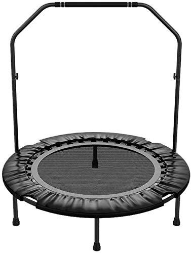 JCCOZ-T Kinder Trampoline 40-Zoll-Trampoline Fitness Mini Faltbarer mit Handlauf stabil und Silent Bouncy for Kindererwachsene Trainer for Innen- / Gard Workouts T (Color : Schwarz)