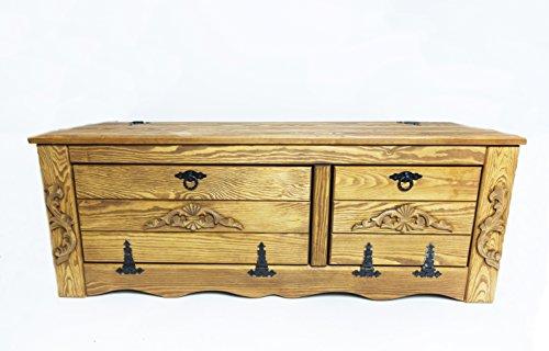 WoMa Kreativ Shop / deutschlandweit einziger Anbieter diesen Hersteller Massive Handgemachte Holzkiste Truhe Box Holz Aufbewahrung Antik Dekoration WIL3