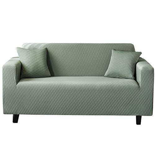 NOBCE Funda de sofá Funda de sofá elástica para Sala de Estar Sofá de Esquina seccional Moderno Funda de sillón Funda de sofá Verde 235-300CM