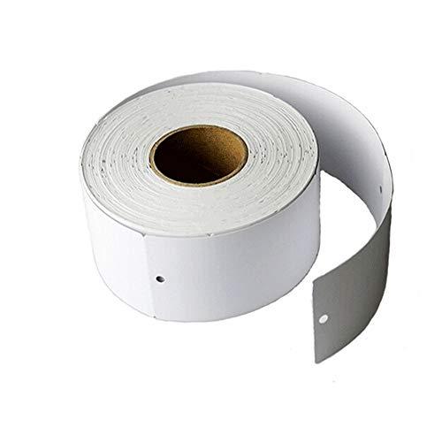 800 Preisschilder Preisetiketten Kartonetiketten mit Loch Etiketten Anhänger Anhängeetiketten für Schmuck Kleidung Anzeige 30x70mm Weiß Rolle