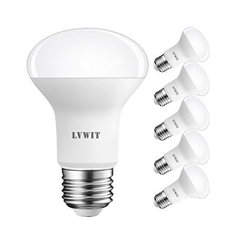 LVWIT Lampadine LED Riflettore R63,Attacco E27,8.5W Equivalenti a 60W,806Lm,Colore Bianco Caldo 2700K,Consumo Basso,Risparmio Energetico,Non Dimmerabile - Confezione da 6 Pezzi