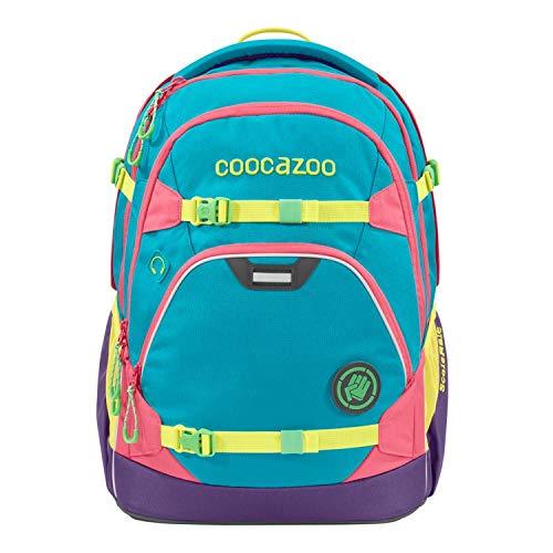 coocazoo Schulrucksack ScaleRale Holiman blau-gelb-lila, ergonomischer Tornister, höhenverstellbar mit Brustgurt und Hüftgurt für Mädchen ab der 5. Klasse, 30 Liter