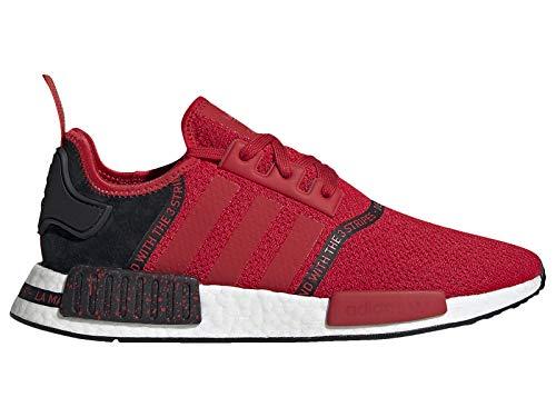 adidas Originals NMD R1 Zapatos Informales de Malla para Hombre, Rojo (Negro (Scarlet/Scarlet/Black)), 42 EU