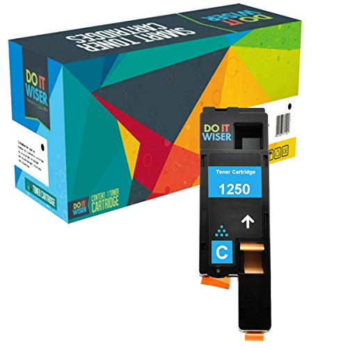Do it Wiser Compatible Toner Cartridge Replacement for Dell C1760nw C1765nfw 1250c 1350cnw 1355cn 1355cnw C1765nf - C5GC3 Cyan