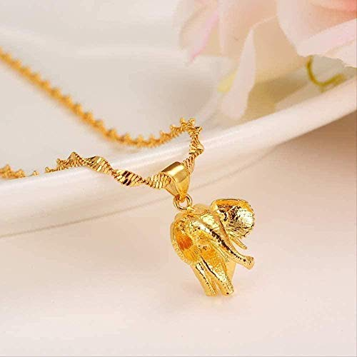 ZGYFJCH Co.,ltd Necklace Woman 2021 Necklace Men Gold Africa Elephant Necklace Gold Fashion African Elephant Pendant Necklaces for Men/Women Fashion Jewelry