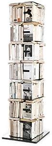 Opinion Ciatti Ptolomeo X4 B - Bibliothèque Verticale, Noir Base Poli Acier H197cm, 7 éléments