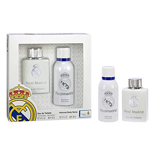 Real Madrid Set de Eau de Toilette para hombre y Spray de Cuerpo, para hombre