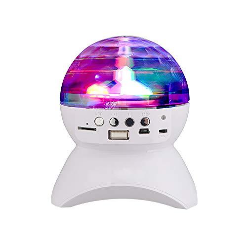 FoxSundry Altavoz Bluetooth Luz de discoteca colorida, USB recargable Gire automáticamente la...