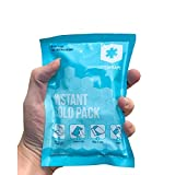 """ICEWRAPS 4""""x6"""" Instant Ice Packs for Injuries - 50 Count Bulk Emergency Single Use Disposable Ice Cold Compress for Pain Relief, Sports Kits, First Aid, Travel & Outdoor"""