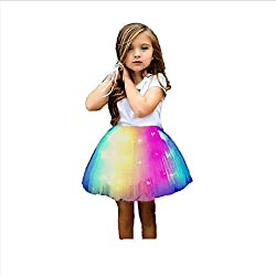 Rainbow B LED Light Up Layered Mini Tutu Skirt