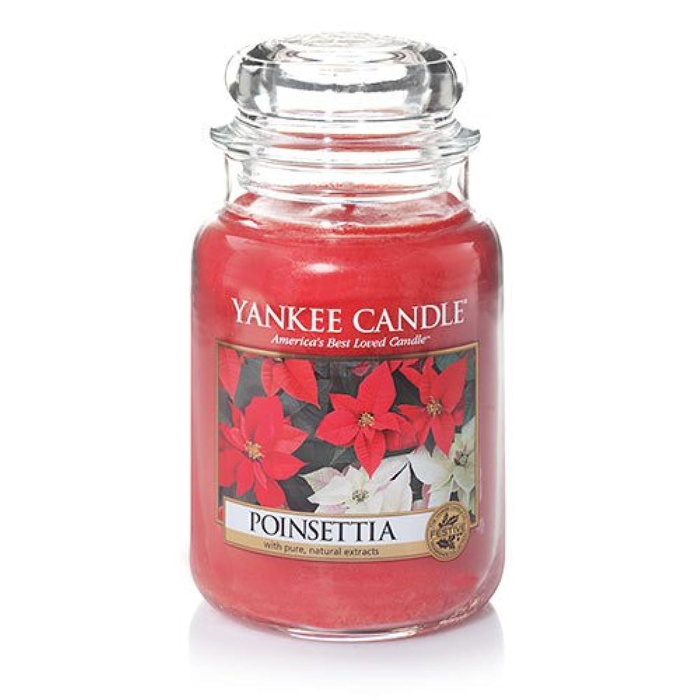 帝国主義勘違いする裸YankeeキャンドルポインセチアLarge Jar Candle、新鮮な香り