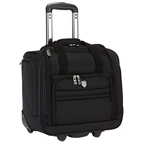 """Travelers Club 16"""" Under Seat Carry-On, Black, 16 Inch"""