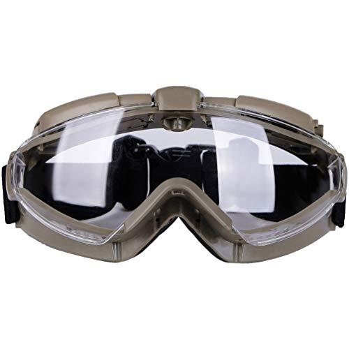 Garneck Schutzbrille Persönliche Schutzausrüstung Brillenschutzbrille für Den Chemieunterricht im Baulabor (Schlammfarbstil)