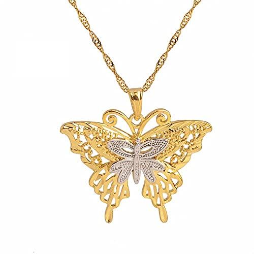 PNG Collares de mariposa de dos tonos para mujer Joyería...