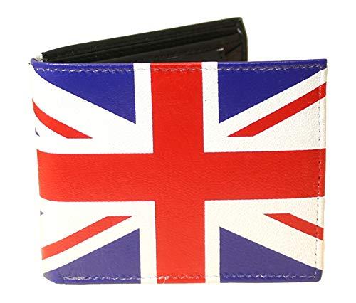 benerini Portafoglio Union Jack Super Soft in vera pelle - Contiene almeno 6 carte di credito - 1 carta d'identità - Monete - Note