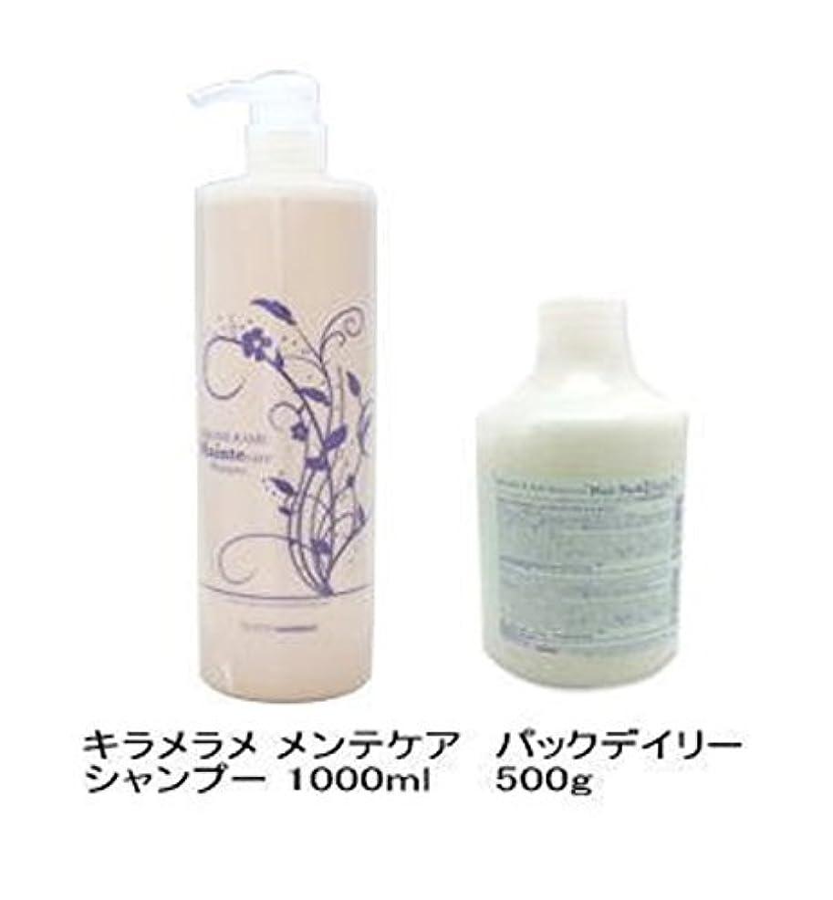 リーズブルジョン感染するハホニコ キラメラメ メンテケアシャンプー 1000mL + パックデイリー 500g セット [Shampoo-land限定]