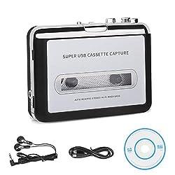 powerful USB Retro Walkman Auto Reverse Portable Audio Music Cassette Recorder to MP3 Converter …