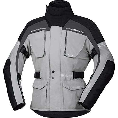 IXS Motorradjacke mit Protektoren Motorrad Jacke Traveller-ST Tour Textiljacke grau/Silber/schwarz L, Herren, Tourer, Ganzjährig, Polyamid