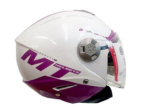 casco tipo jet mt city eleven sv rosa blanco (S)
