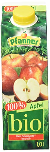 Pfanner Bio Apfelsaft - naturtrüber Direktsaft, 8er Pack (8 x 1 l)
