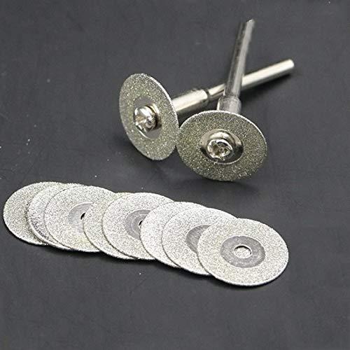 ZLININ 60mm Mini diamante de sierra de disco discos de corte de la hoja de plata con 1pcs Conexión de la caña de FOR Dremel Taladro herramienta rotatoria Fit
