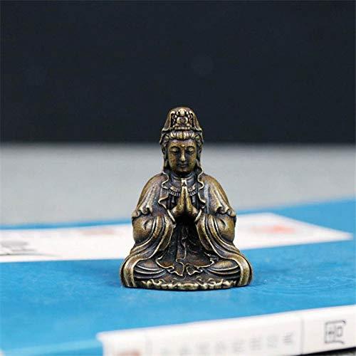 Vintage Figura De Modelo De Buda En Miniatura budismo delicado Estatua Decoración de latón pequeño