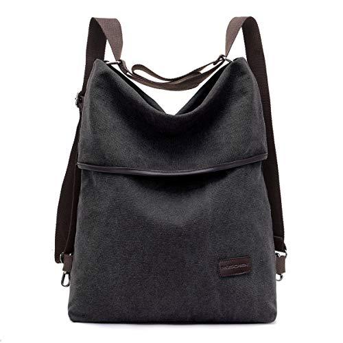 Ruschen Rucksack Damen/Handtasche Damen aus hochwertigem Canvas, Retro Rucksücke Damen Umhängetasche Schultertasche Alltagstasche Crossbody Bag