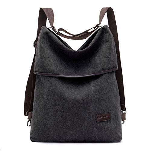 Rucksack Damen/Handtasche Damen aus hochwertigem Canvas, Retro Rucksäcke Damen Umhängetasche Schultertasche Alltagstasche Crossbody Bag von Ruschen
