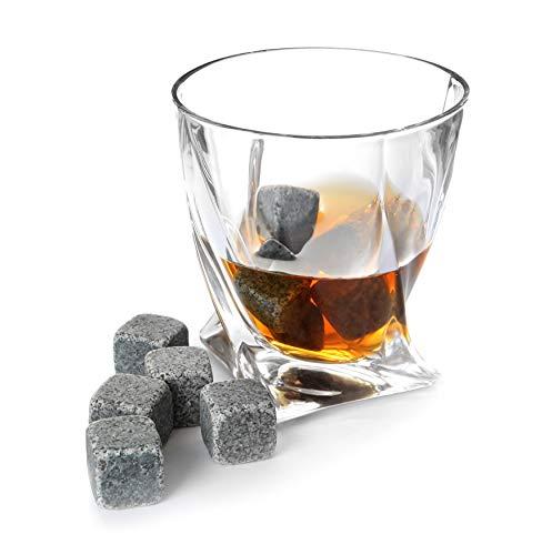 TRIXES Whiskey-Steine aus Edelstahl, Form einer Patronenkugel, kein Wasser oder Eis