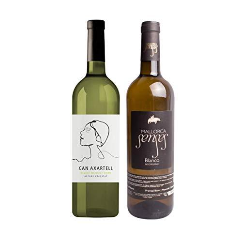 CAN AXARTELL und MALLORCA SENSES 2er Probierpaket Weisswein *BLANCO BARRICA* und *BLANCO* Jahrgang 2016 Bodegas Mallorca, Spanien - Weißwein trocken (2 x 0,75l)