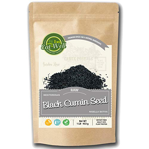 Black Cumin Seeds (Nigella Sativa) 1 Lb - 16 Ounce, Raw & Whole Pure - Natural Turkish Black Cumin Seed, Contains Highest Thymoquinone (TQ) in its Oil