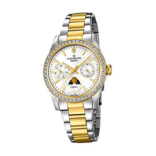 CANDINO Damen Uhr Analog C4687/1 Edelstahl Armbanduhr Fashion Silber UC4687/1