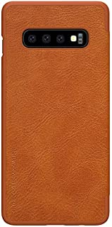 Nillkin Samsung Galaxy S10 Flip Mobile Cover Qin Flip Series Leather Case - Brown