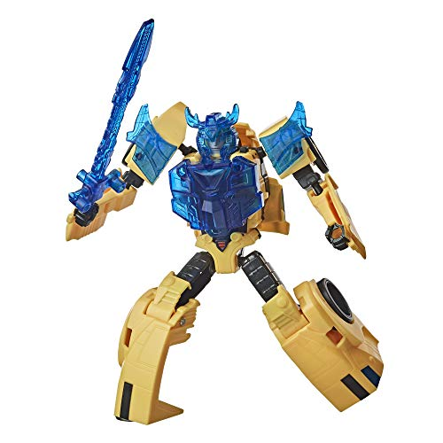 Transformers E8373 Bumblebee Cyberverse Adventures Battle Call Trooper-Klasse Bumblebee Action-Figur, Energon Power Lichter