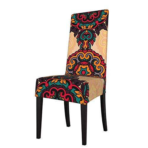 Fundas para sillas con Textura Vintage, Protector de Asiento Indio, Funda elástica para sillas de Comedor, Funda de Asiento para sillas