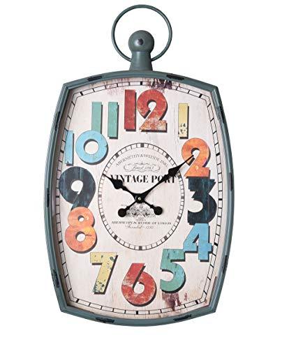 Industrie Wanduhr Vintage Port Uhr Retro Fabrikuhr Antik Großuhr Loft mhc048 Palazzo Exklusiv