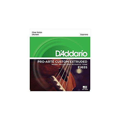 D 'Addario D' Addario EJ65S Pro-Arté Custom extruido ukelele Soprano cuerdas ADF # B Tuning
