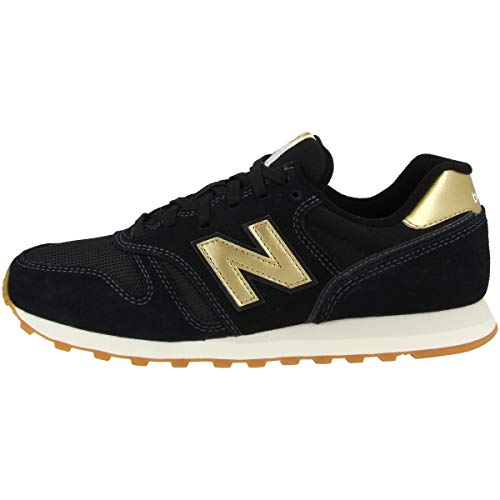 New Balance Damen 373 WL373FB2 Medium Sneaker, Black (Black FB2), 41.5 EU