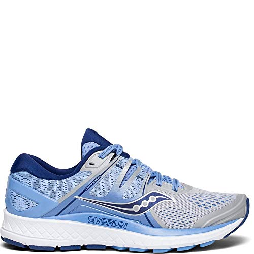 Saucony Women's S10442-1 Omni ISO Road Running Shoe, Silver | Blue | Navy - 7.5
