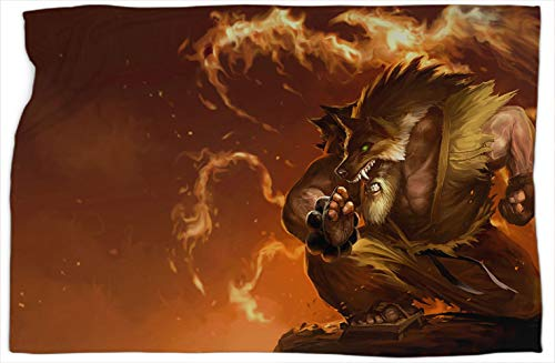 Udyr Blackbelt League Legends - Manta estampada para sofá o dormitorio, cálida y cómoda, 152,4 x 203,2 cm