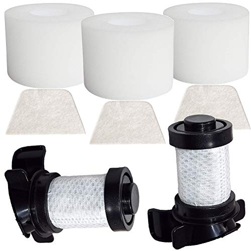 OxoxO Shark Filtros, 2pc HEPA and 3pcs Foam & Felt Filters for IONFlex DuoClean IF180 IF251 IF200 IF201 IF202 IF205 IF100 IF150 IF160 IF170 Replace Part #XPREMF100