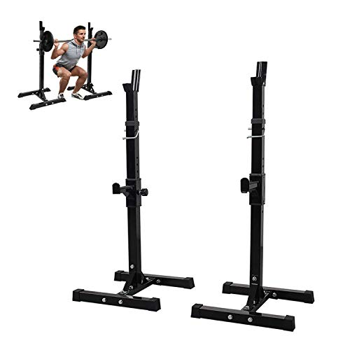 ZJS Squat Rack and Bench Press,Barbell Rack,Multi-Function Barbell Rack Squat Stand Adjustable Bench Press Rack Multi-Function Weight Lifting Home Gym Fitness
