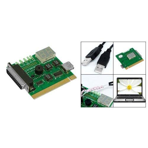 SODIAL(R) Scheda madre USB e PCI analizzatore tester della carta diagnostico per computer desktop e notebook PC