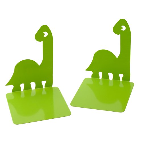 1Pair Prehistoric Dinosaurs Noskid Bookends Books Gift Green