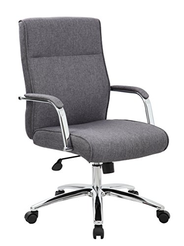 Boss Office Products Modern Executive Conference Chair, Grey