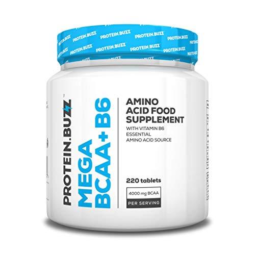 Protein Buzz Mega BCAA + B6, 220 Tabletten