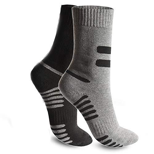 BestSale247 6 oder 12 Paar Herren Thermo Socken Winter Sport Ski Arbeitssocken Baumwolle 39-42/40-44 ; 43-46, 6 Paar Mehrfarbig, 39-42